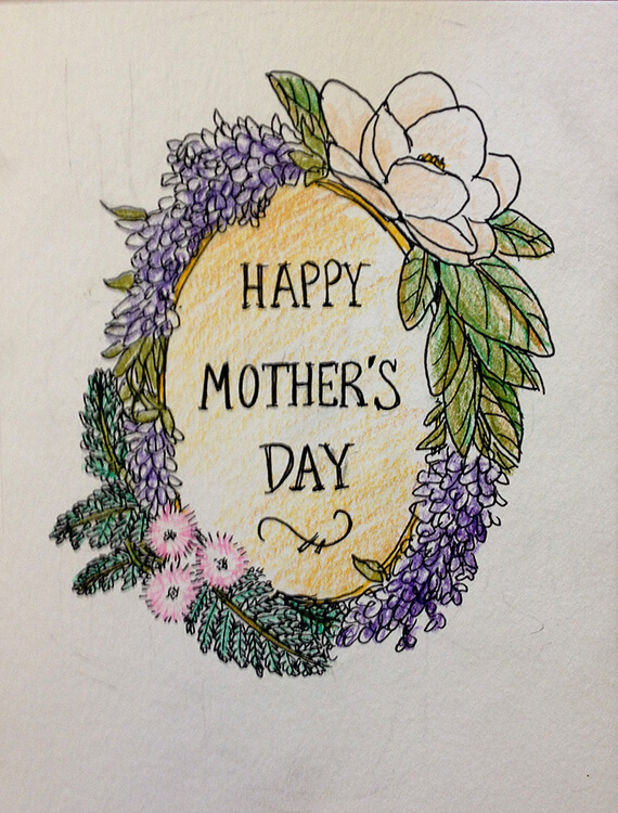 hand drawn mother's day card ideas _ inspiration 7 _ safia begum