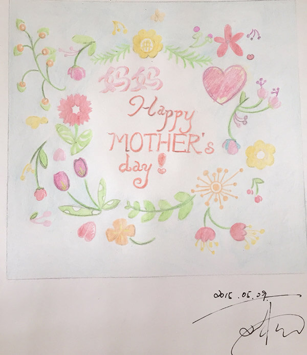 hand drawn mother's day card ideas _ inspiration 9 _ safia begum