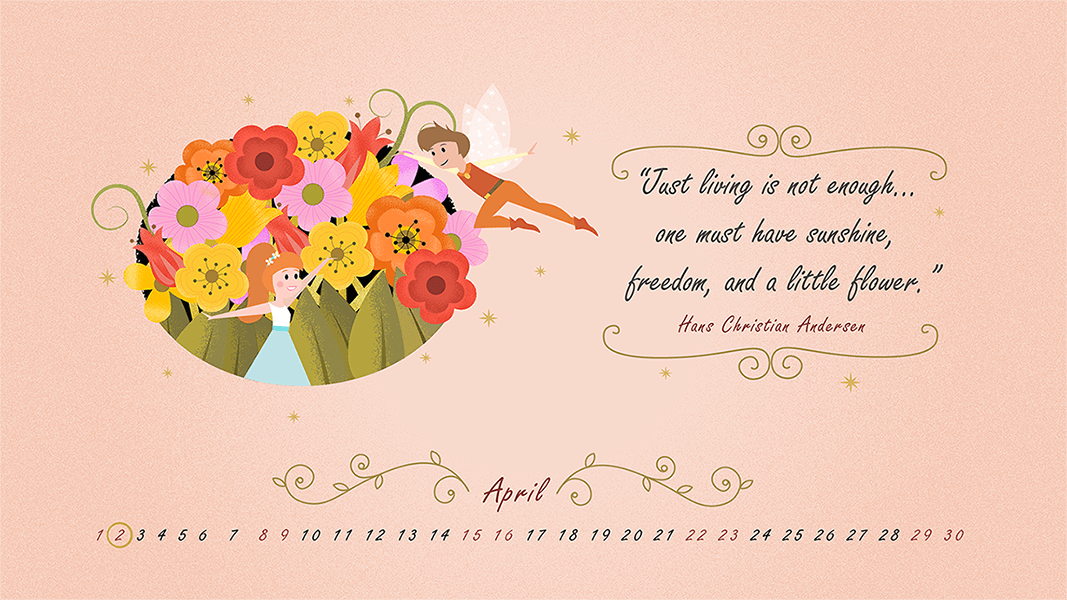 desktop wallpaper april 2017 _ hans christian anderson quote _ safia begum