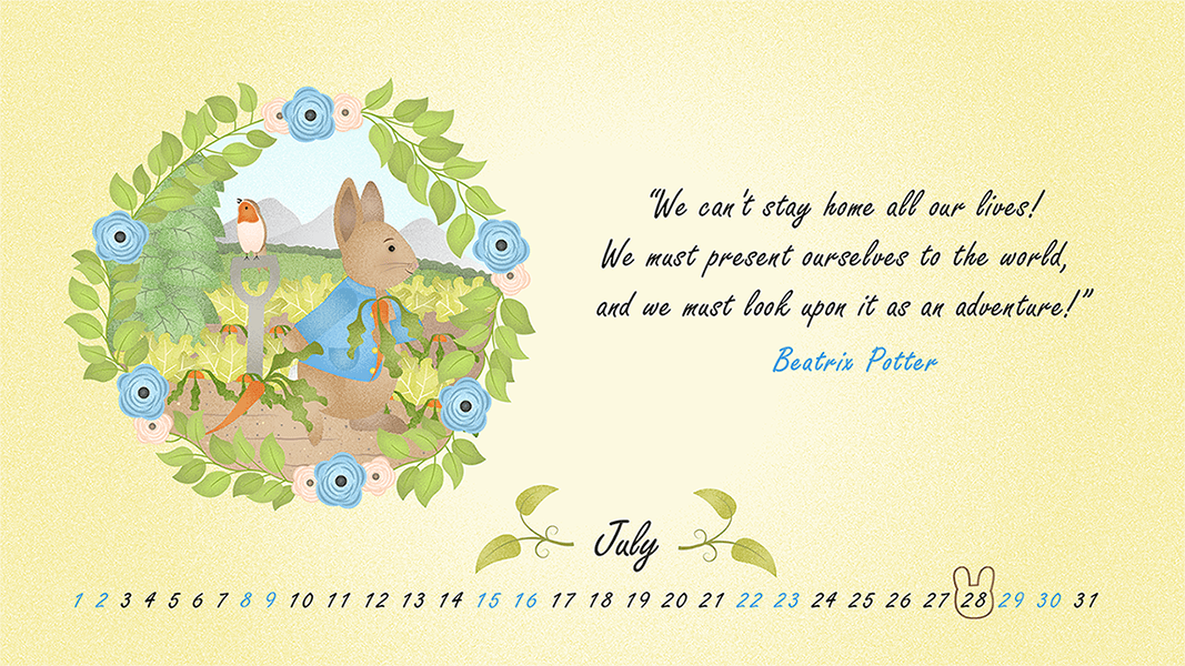 Beatrix Potter Quote _ Desktop Wallpaper for July 2017 _ safia begum