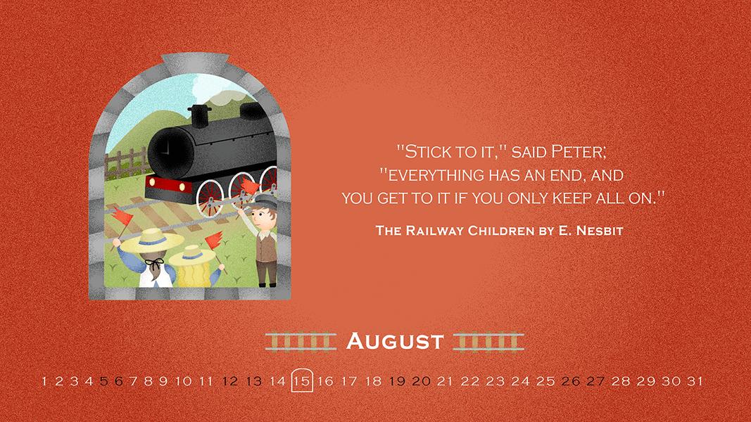 safia begum_ desktop wallpaper for august _the railway children quote